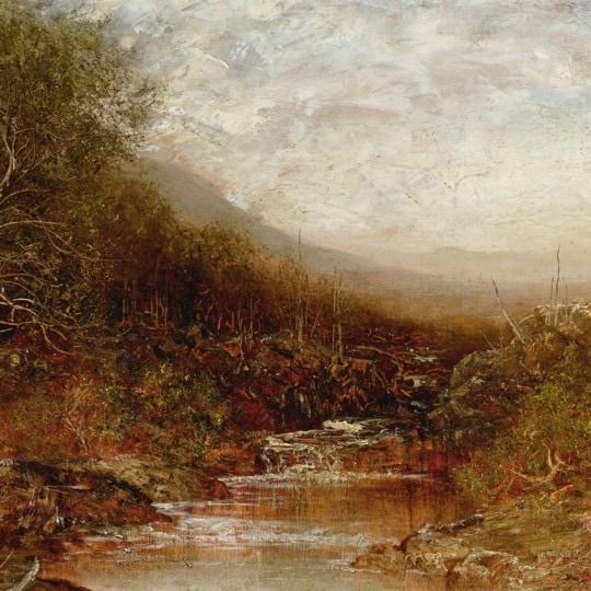 Autumn Landscape with Stream