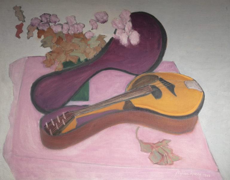 Mandolin with Flowers