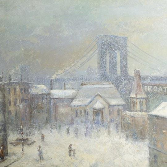 Winter Brooklyn Bridge