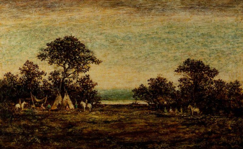 Indian Encampment/Three Riders