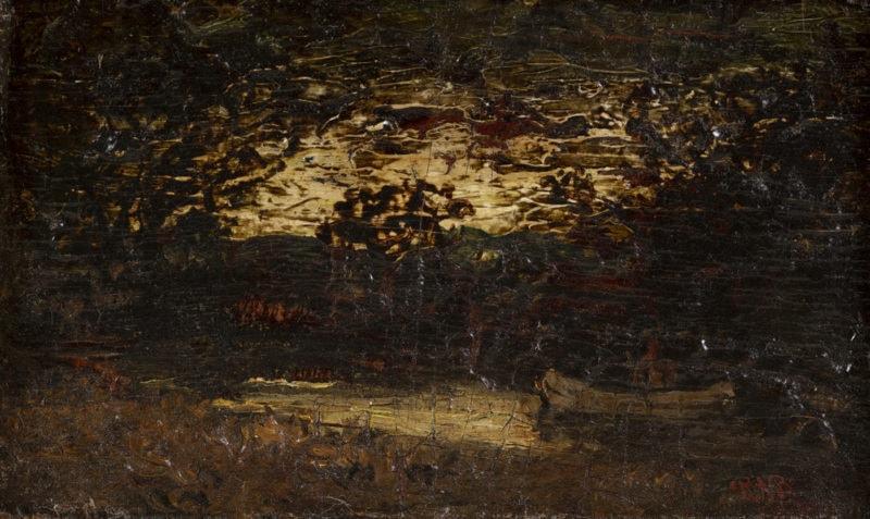Twilight Landscape with Canoe