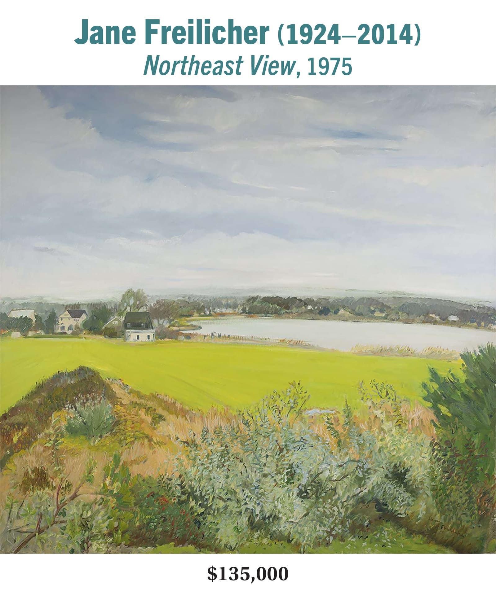 Jane Freilicher (1924–2014), Northeast View, 1975, oil on canvas, American modernist landscape painting