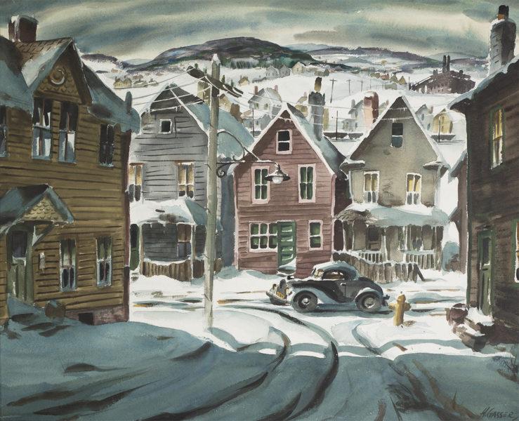 Winter Scene with Car