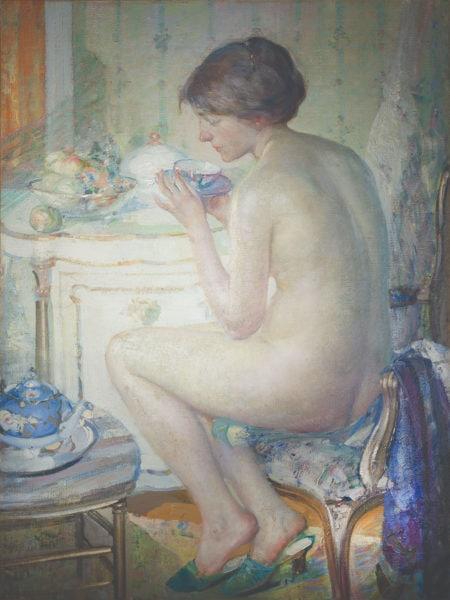 Woman in a Boudoir
