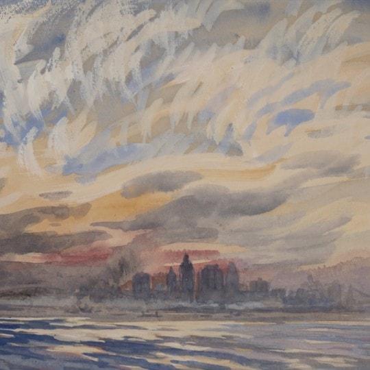 Returning from Staten Island (View of Lower Manhattan)