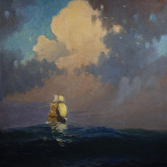 Galleon at Sea, Fantasy